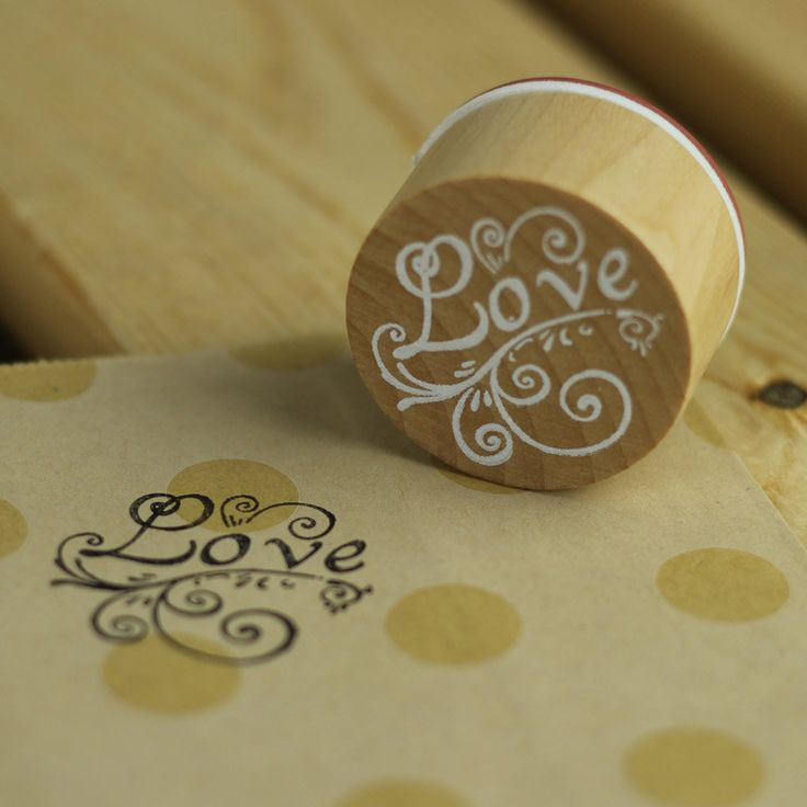 Round Vintage 'Love' Stamp from My Party Store