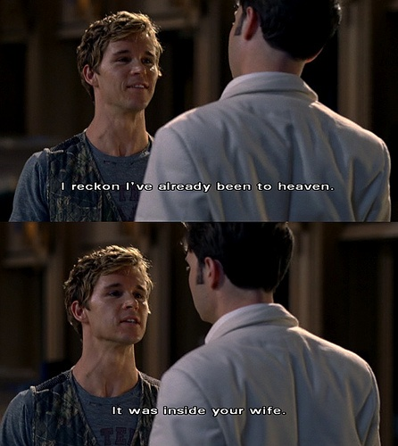 True Blood. Jason Stackhouse. LOL This was the episode I just watched last night! :o)