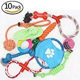 G4 TECH Dog cuerda juguetes 10 Set perro cuerda juguetes perro masticar juguete para pequeños perros medianos (A)