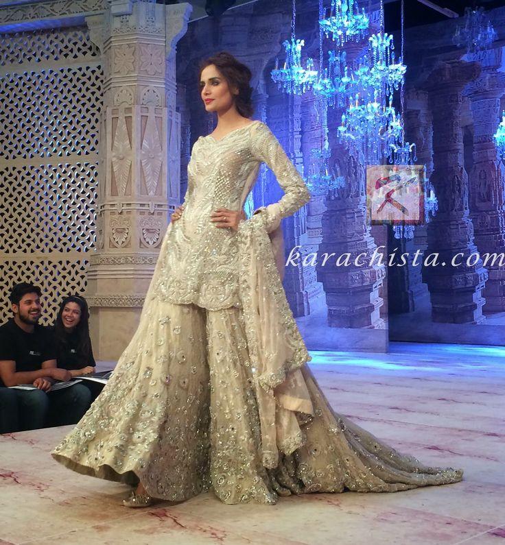 Mehreen Syed for Ammara Khan PLBW 2014  Love this silhouette for my western-paki wedding
