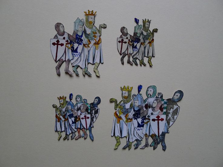 Original artwork for Monty Python & the Holy Grail - cut out animation pieces for the opening credits and animation sequences.