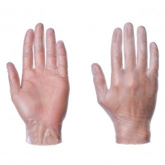 Cheap Powdered Disposable Vinyl Gloves. Top quality supplied in a case of 10 x 100 - Workwear Fast