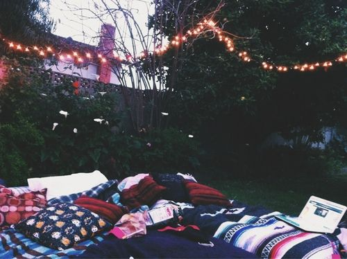 Set up an outdoor pillow fort and stargaze before the summer is over