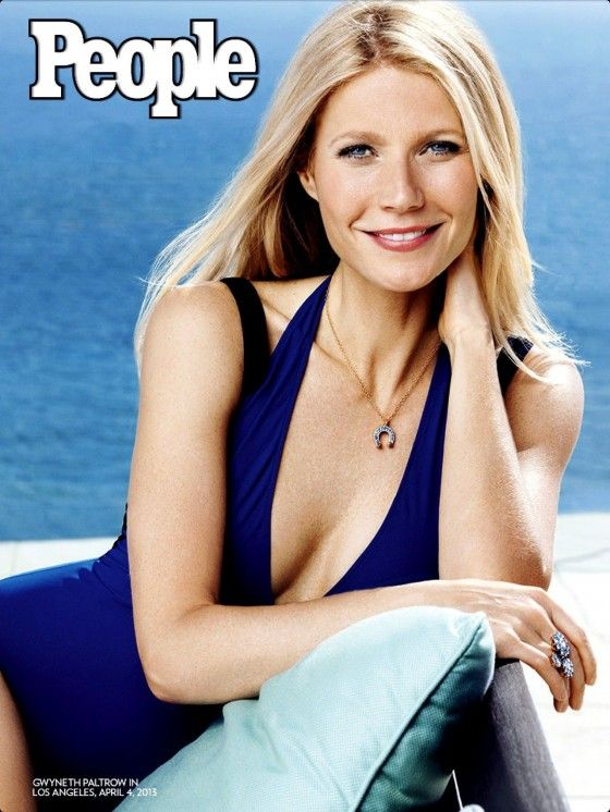 Paltrow – People Magazine 2013 -She got cleavage?! Good job People.