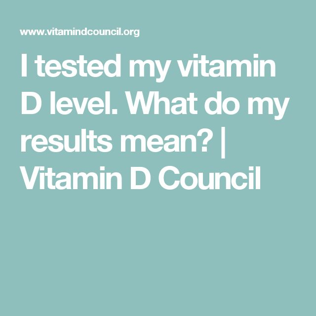 I tested my vitamin D level. What do my results mean? | Vitamin D Council