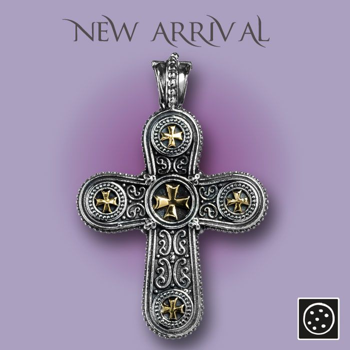 A new sterling silver and 18K solid gold cross pendant. Check out the link for more details and join our newsletter to get your exclusive discount.