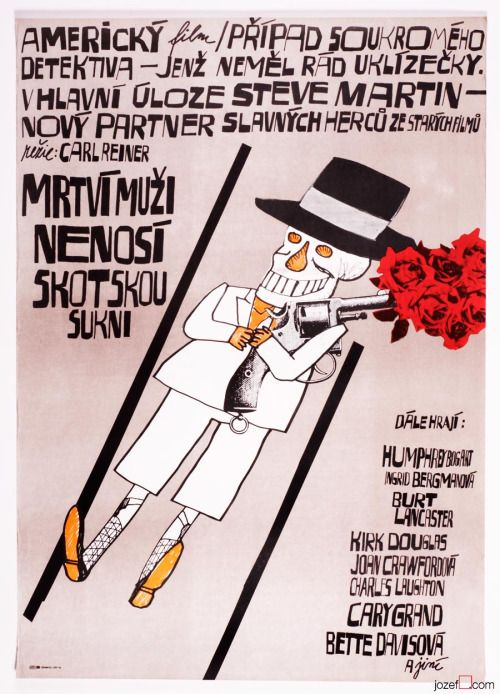 Dead Men Don't Wear Plaid (1982). Czech poster by Stanislav Duda.