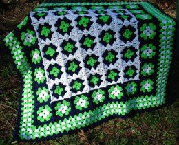 Granny Square Baby Blanket – PB-107 – A crochet pattern from Nancy Brown-Designer. Make an extraordinary baby blanket that is bold and contemporary by using contrasting colors and a striking border to pull it all together. This pattern PDF can be purchased at my LoveCrochet Pattern Store for $3.99, just click on the photo.