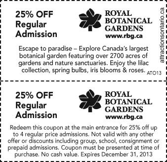 Royal Botanical Gardens- 25% Off Regular Admission