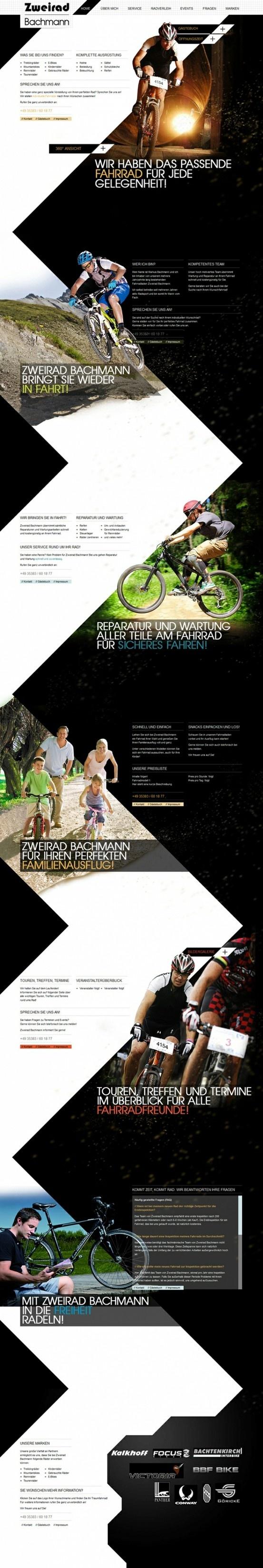 Zweiradhandel Bachmann | Designed by Stephanie Zander