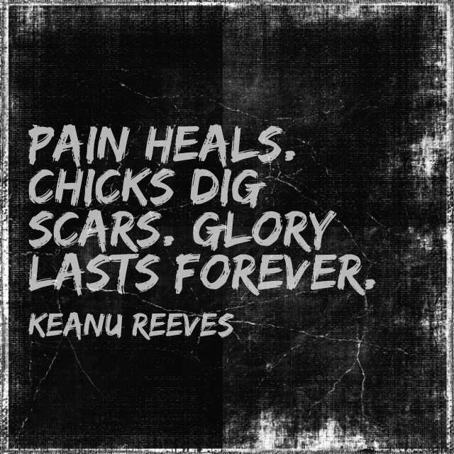 One of my Favourite quotes from Keanu Reeves that keeps me going!  :-)