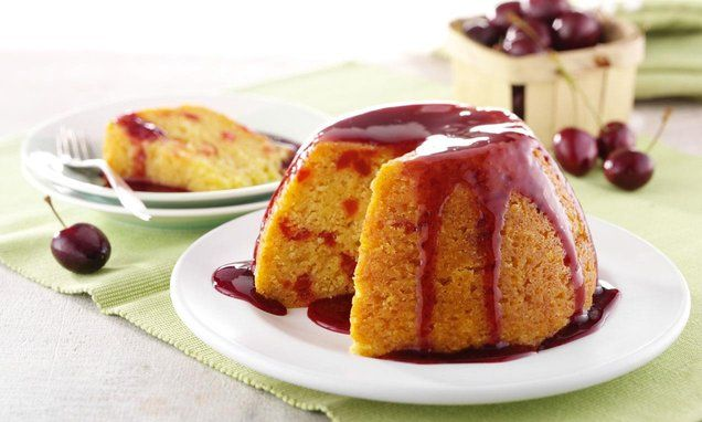 Cherry Bakewell Puddings