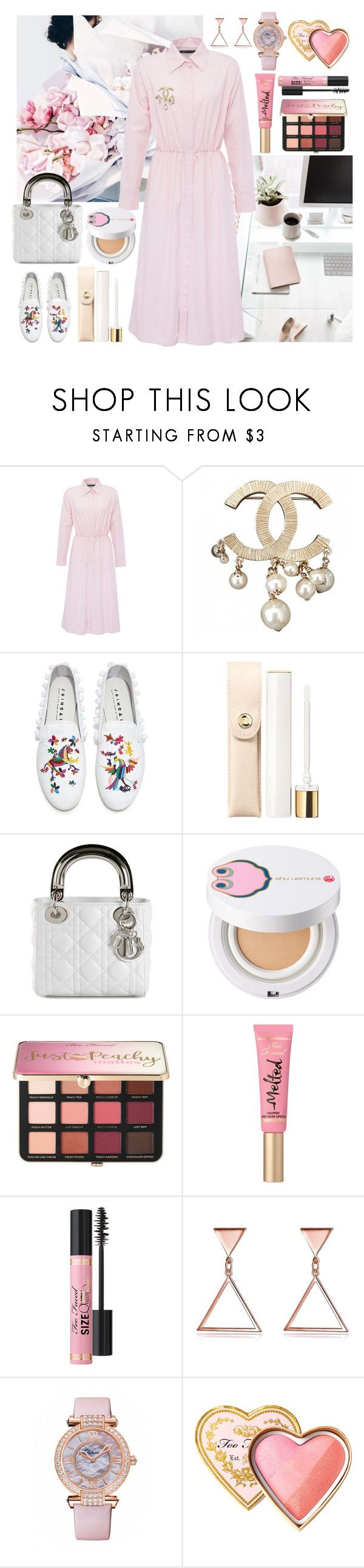 """""""Untitled #511"""" by ngkhhuynstyle ❤ liked on Polyvore featuring Anouki, Chanel, Joshua's, shu uemura, Sephora Collection, Too Faced Cosmetics and Chopard"""