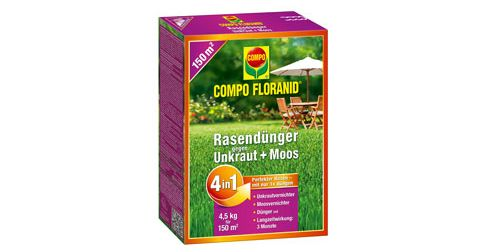500 Tester für COMPO FLORANID Rasendünger