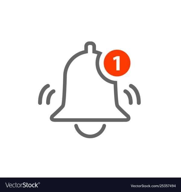17 Bell Notification Icon Vector Free Alert Logo Illustrator Graphic Styles