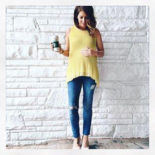 Jillian Harris wearing Seraphine Maternity Gerie Jeans >>>…