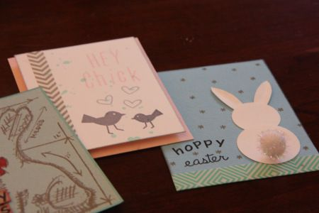 Mommy & Me Class: Krista's Easter Card samples for our popular Mommy & Me class on Sunday, March 23rd, 2014! Tim Holtz, Lawn Fawn, and more!