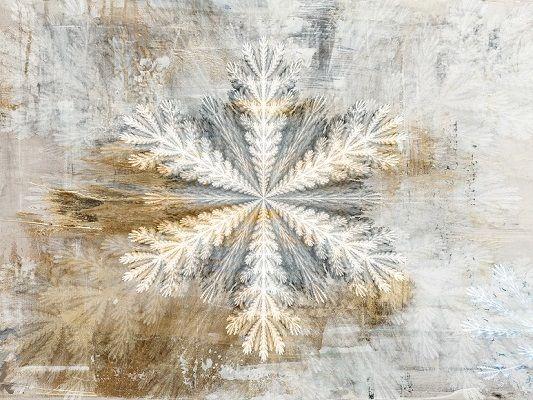 """Obraz na płótnie """"Snowflake on Canvas"""""""