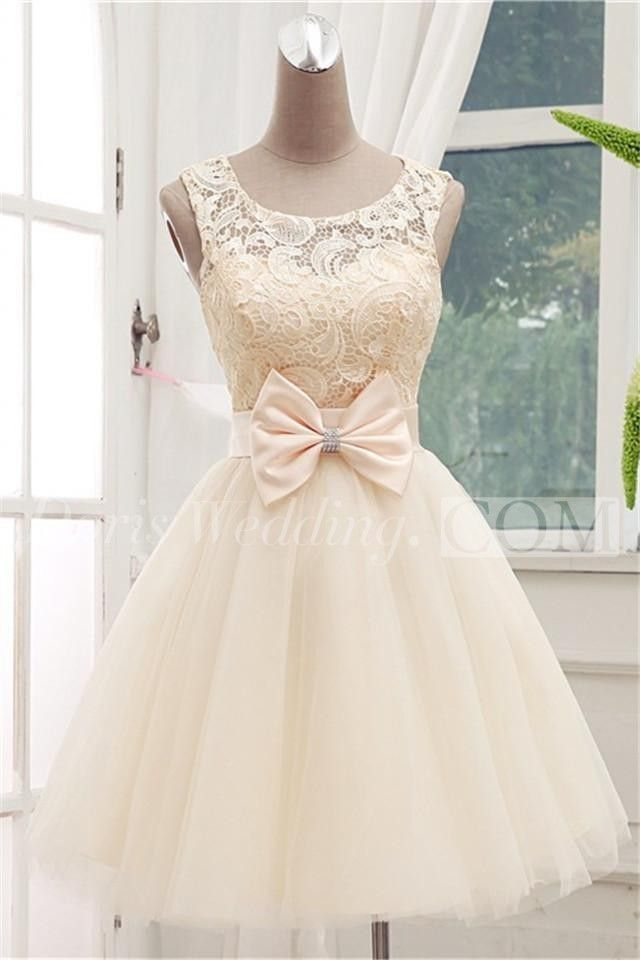 US$73.20-Timeless Sleeveless Lace Cocktail Dress Bowknot Tulle Short Prom Gowns/ Vintage Prom Dress. http://www.doriswedding.com/timeless-sleeveless-lace-cocktail-dress-bowknot-tulle-short-prom-gowns-p323178.html. As a global online dress shopping destination, doriswedding.com selected the best prom dresses, party dresses, cocktail dresses, formal dresses, maxi dresses, evening dresses and dresses for teens such as sweet 16, graduation and homecoming. #DorisWedding.com