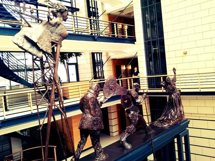 Bronze Figures by William Kentridge, Nedbank main lobby.