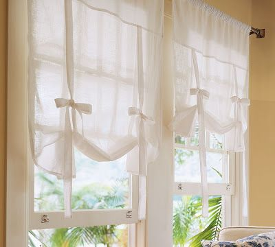 Cozy.Cottage.Cute.: Pottery Barn Knock-Off Tie-Up Shade