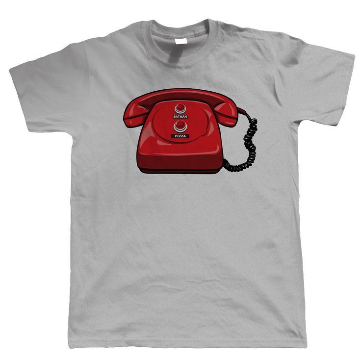 Bat Phone Mens Funny Superhero T Shirt – Comic Cosplay Video Game Gift for Him