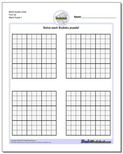 graphic regarding Printable Sudoku 4 Per Page named Printable blank Sudoku Puzzle Grids. Click on all through in the direction of the