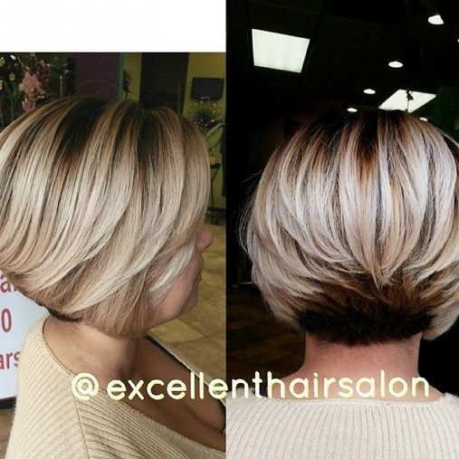 Layered Bob Haircut for Thick Hair - Women Short Hairstyles