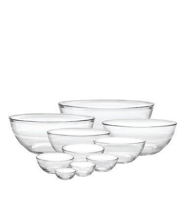 Duralex Baking Collection - Set of 10: Made in France of 100% tempered glass. Freezer, microwave and dishwasher safe. Bowls: 1 oz., 2 oz., 4 oz., 6 oz., 10 oz., 0.5 qt., 1 qt., 1.5 qt., 2.5 qt. and 3.5 qt. $34.99 #Bowls #Duralex