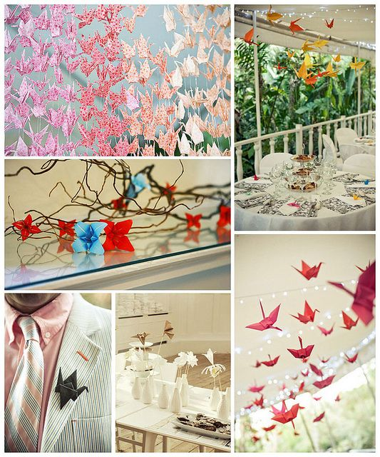 76 best Wedding decor origami images on Pinterest - photo#9