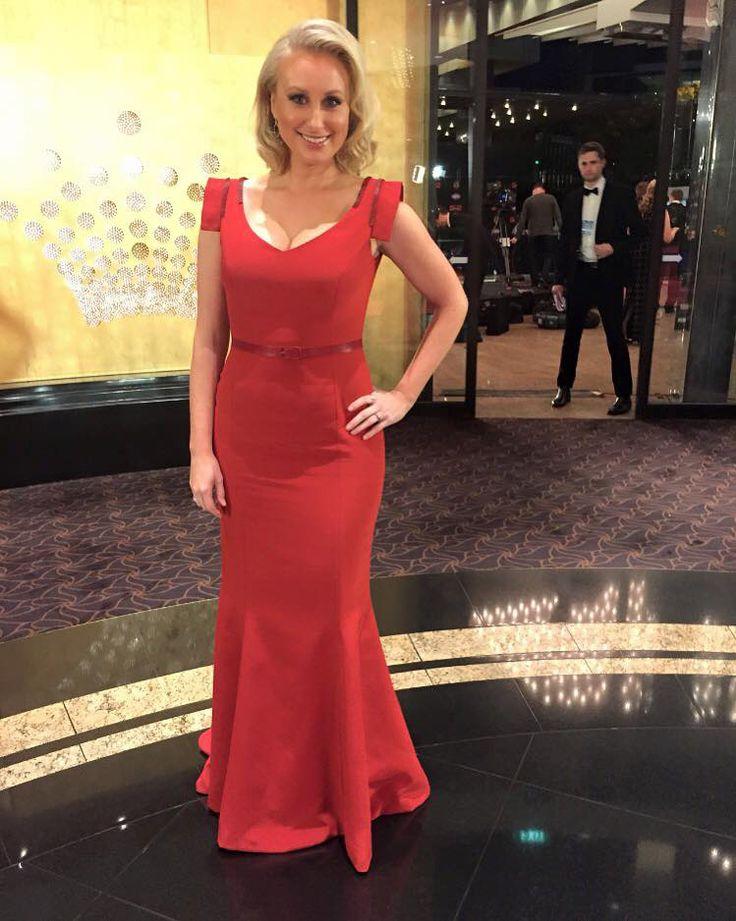 Channel 7's Jane Bunn  wearing JASONGRECH