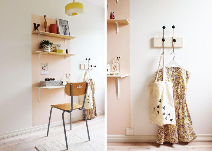 Kleuraccent wand, gevonden via www.kinderkamerstylist.nl