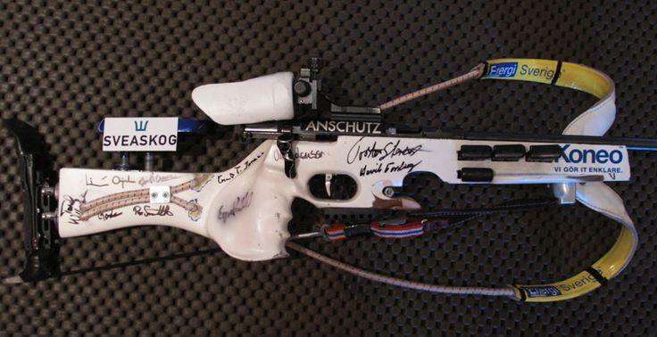 Design nr. 5: White Anschütz Fortner with signatures of people that supported me.