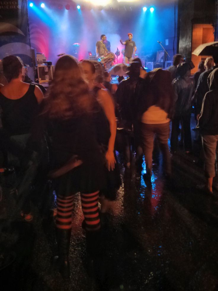 Delhi 2 Dublin from Vancouver performing in Sherbrooke Quebec tuesday night as it was downpouring. Here is a view of the water in the street. We were all soaking wet but had fun!