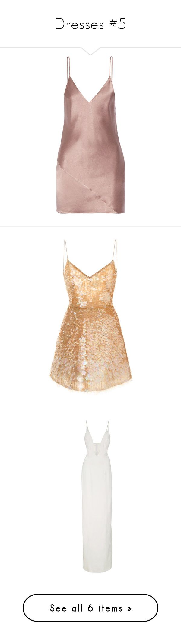 """Dresses #5"" by asoc10 ❤ liked on Polyvore featuring intimates, dresses, vestidos, fleur du mal, lingerie slip, slip lingerie, fleur du mal lingerie, beige silk dress, sequin embellished dress and beige sequin dress"