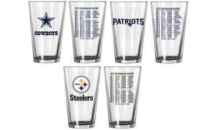 NFL 2017-'18 Schedule Pint Glass Set (2-Pack)   Groupon