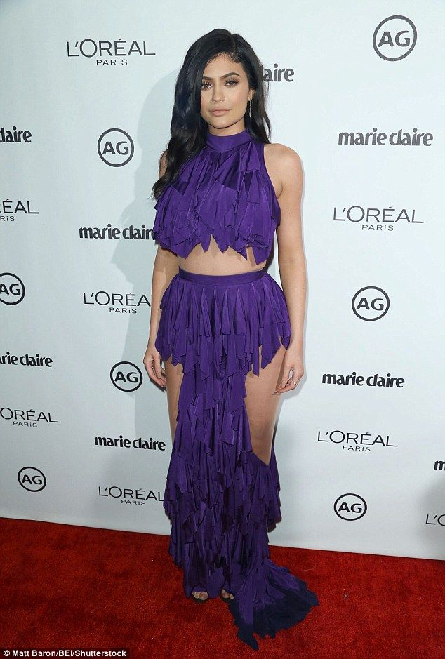 Sexy statement! Kylie Jenner put her body on display at the Marie Claire Image Maker Awards in Los Angeles on Tuesday night