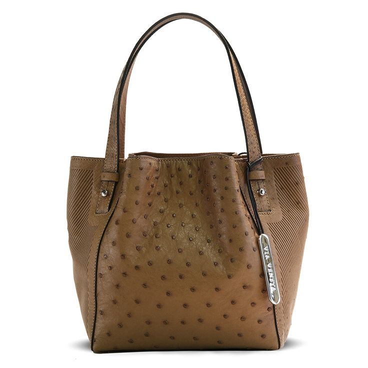 Via Veneta genuine ostrich leather handbag