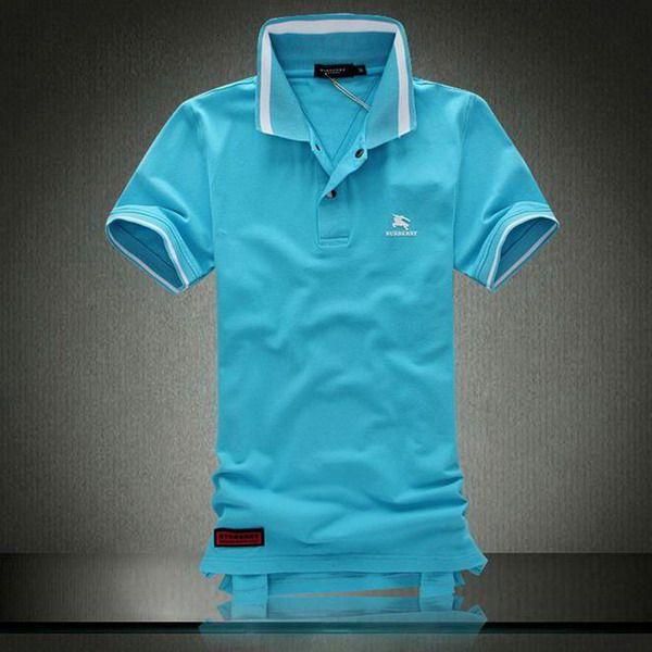 ralph lauren outlet store online Burberry Print Stand Collar Short Sleeve Men's Polo Shirt Blue http://www.poloshirtoutlet.us/
