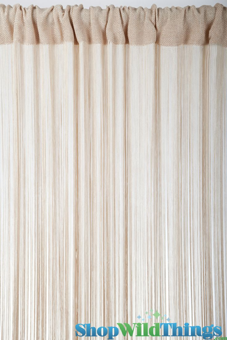Beaded string curtains - String Curtain Natural Fringe 18 Strings Per Inch 36 X 88 Our String