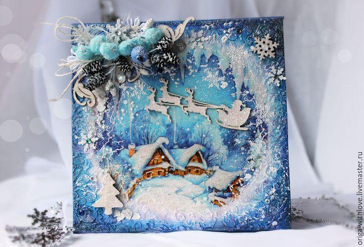 Зима открытка своими руками