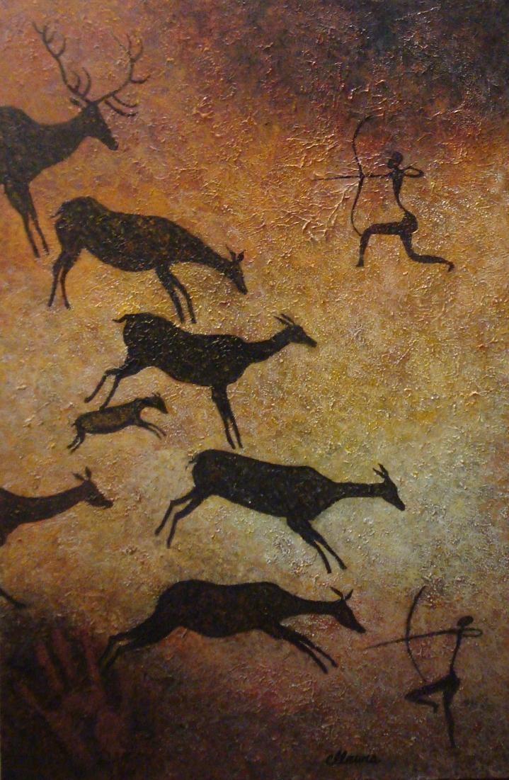 швейная наскальная живопись первобытных людей картинки охота угри относятся группе