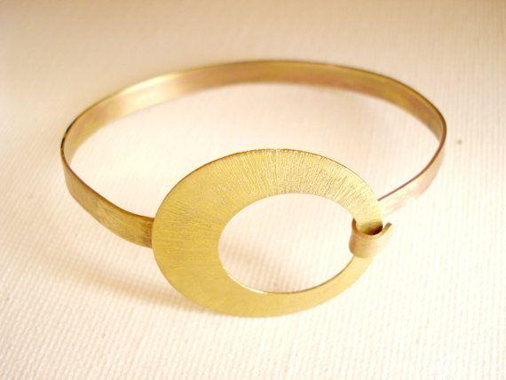 Brass Bangle Bracelet Handmade Metalwork by PenelopeStudio on Etsy, €25.00
