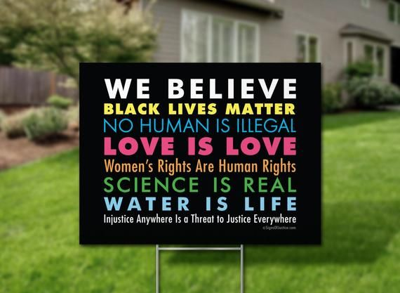 We Believe Yard Sign 24x18 2 Sided The Etsy Believe Sign Protest Signs Political Yard Signs