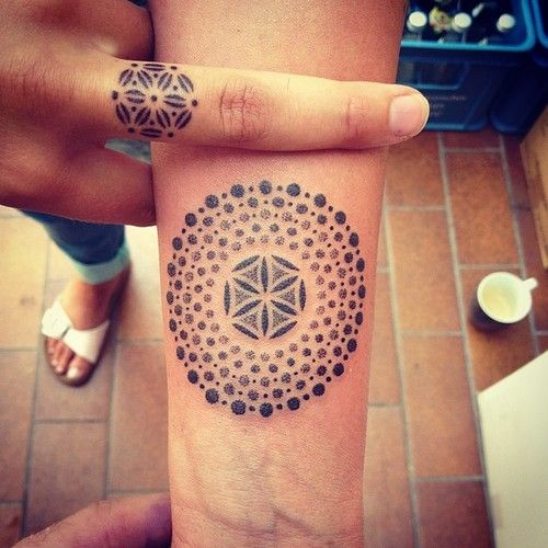 If I ever get a tattoo, these are cool. I like it on the finger too!
