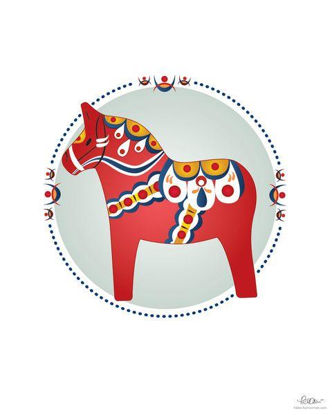 scandinavian folk art | Inspired and based on Scandinavian folk art, I created this vector ...