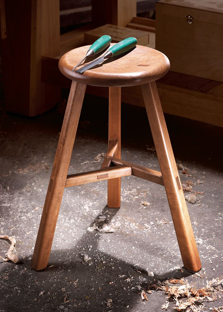 Join Bob Lang for the building a three-legged Chinese stool class, Aug 17 & 18, 2013
