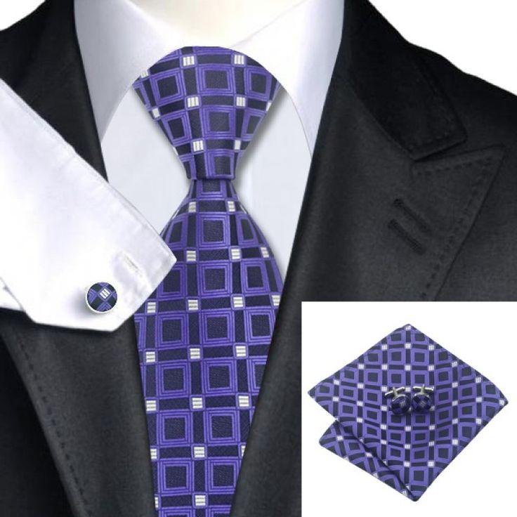 Галстук фиолетовый в квадратик - купить в Киеве и Украине по недорогой цене, интернет-магазин