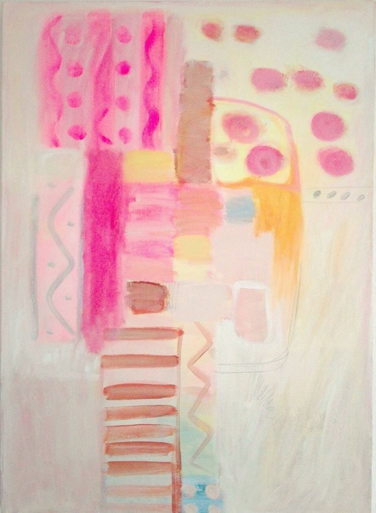 Kobus.m, abstract painting acrylic painting, Candy