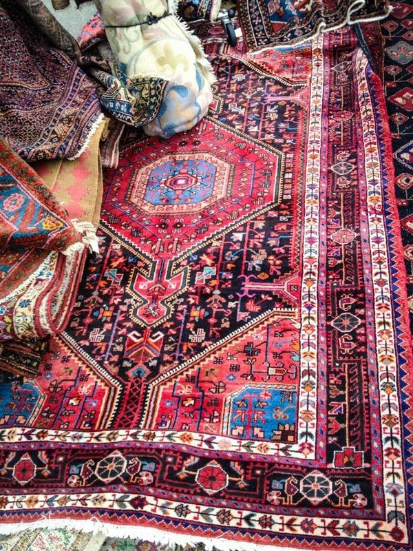 Persian rugs and cushions lounge set oriental style